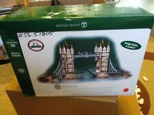 Department 56 Dickens Village Tower Bridge of London Damaged, As-Is