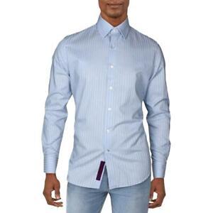 Robert Graham Mens Kodiak Striped Button-Down Shirt Long Sleeves BHFO 8118