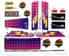 Stickers for KENNER M.A.S.K THUNDERHAWK Stickers Personalized with Extra's