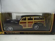1:18 Maisto Special Ed. #56043-1948 Chevrolet Fleetmaster Woody Negro Rareza $