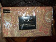 NIP Ralph Lauren Pink/Yellow/Green/Taupe Full/Queen Duvet Cover Set 3pc