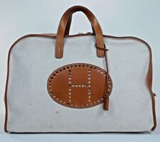 Hermes Victoria Evelyne Duffle Boston Bag Leather Feu2dou Travel Suitcase HK639