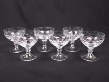 6 vintage cut crystal glass sundae dishes/dessert trifle ice cream bowls