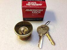 New (Old Stock) American Lock Mortise Cylinder 9110 X04 Yale 8 keyway w/ 2 keys