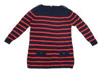 BHS Womens Size 16 Striped Multi-Coloured Jumper (Regular)