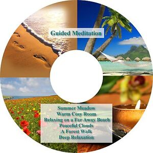 6 x Guided Meditation Relaxation Sessions CD Stress Relief Sleep Aid Heal Calm