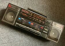 Vintage Sharp GF-570E BK GhettoBlaster BoomBox Radio Cassette - With Inputs