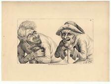 KARIKATUR-Lithographie-Tim Bobbin (John Collier) 1850
