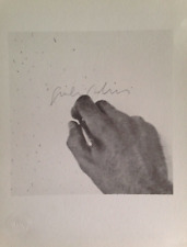 Giulio Paolini Litografia Firmata (Guttuso,Vedova fontana,  Warhol, schifano)