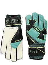 9e8ebc9a9 UNDER ARMOUR DESAFIO GOALKEEPER GLOVES 1279429 Black   Teal   Yellow (MEN S  ...