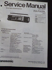 Original Service Manual    Panasonic Radio Cassette RX-FW29L