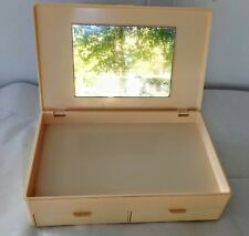 Vintage Retro Ultima II Makeup Case Plastic Organizer Vanity Top Mirror