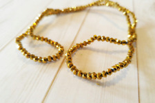 200 Gold Faceted Glass Beads Rondelle 2.5mm BULK Abacus Strand Shiny