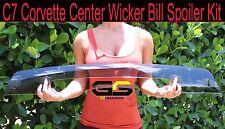 2014-2019 C7 Stingray Stage 3 Z06 Corvette Clear Center Wicker Bill Spoiler Kit