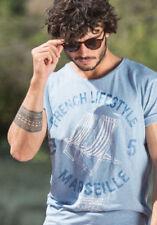 Kaporal Mens Short Sleeve T Shirt Blue M - French Lifestyle Marseille BNWT