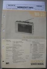 SONY WA-33 Service Manual inkl. MDR-4L1 und Service Info