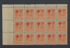 COSTA RICA RED CROSS BENEFIT SURCHARGE MENA SP1 BLOCK MNH 1922
