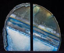 Agate Bookends Geode Crystal Polished Quartz Druzy Brazil Specimen