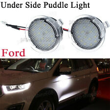 2x High power white LED Side Mirror Puddle Lights For Ford Fusion 2013 - 2017