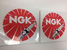 Genuine 2x NGK Medium Stickers Decals Motorsport, Drift, Track, AE86, Datsun