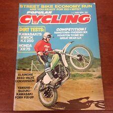 POPULAR CYCLING JULY 1974 KX250 HANGTOWN VINTAGE MOTOCROSS ACTION VMX TWINSHOCK