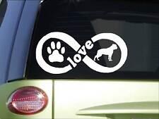 American Bulldog Infinity sticker *H403* 4 x 8.5  inch vinyl dog decal