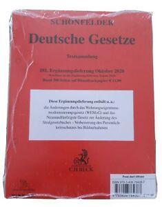 Schönfelder Deutsche Gesetze Textsammlung 181. Ergänzungslieferung Oktober 2020