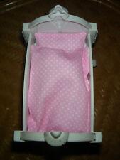 Süsse Bettwäsche rosa mit weißen Herzchen für Mini Baby Born oder 11 cm Puppen