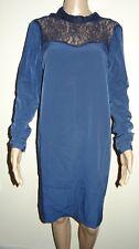 Women's Vila Navy Long Sleeve Lace Friendly Speed Pressure Dress Small VR88 010