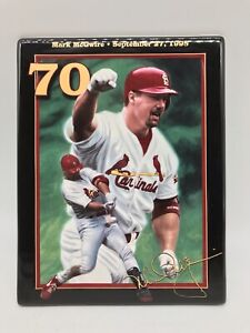 "Vintage Mark McGwire Plaque King Of Swing ""70"" 1999 Bradford Exchange Baseball"