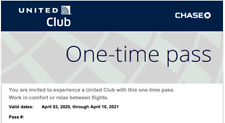 United Airlines UA Club One-Time Pass E-Delivery  (Expires April 2021)