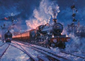 GWR Severn Valley Railway 7802 Bradley Manor Steam Train Blank Christmas Card