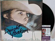 "DWIGHT YOAKAM Signed Autograph LP Cover ""Guitars Cadillacs Etc"" Vinyl Record JSA"