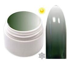 Trendfarbe Thermo Farbgel UV Gel Farbwechsel Militär Grün - Weiß  5ml TG-13
