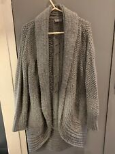 ladies large cardigan Per Una Marks and Spencer Grey knit acrylic/wool blend