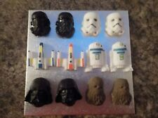 Star Wars Style Cake Cupcake Toppers Vader Death & Stormtrooper Wookie X-Wing