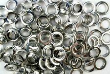 100 Ösen mit Scheiben 14 mm silber