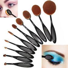 Professional Makeup Brushes 10Pcs Set Black Oval Cream Puff Toothbrush Brush US