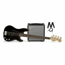 Squier Affinity Series Precision Bass PJ Black w/ Rumble 15 Amp