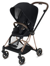 Cybex Mios Lightweight Compact Single Baby Stroller Rose Gold Frame Premium Blk