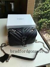 "Authentic shoulder bag ysl Yves saint laurent black handbag 7"""