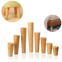 1/4Pcs Wooden Furniture Legs Replacement Feet For Sofa Table Chair Footstool