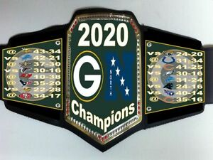 Green Bay Packers 2020 NFC North Division Champions Championship Belt