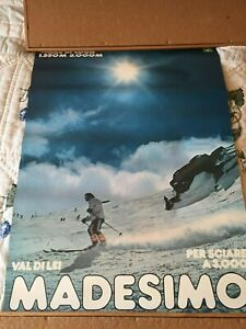 MADESIMO Val Di Lei Italy SKI POSTER from late 1980's/Good Condition