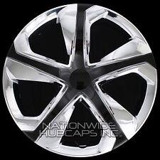 "4 Chrome Black 2006-17 Honda Civic 16"" Hub Caps Full Wheel Covers fit Steel Rims"
