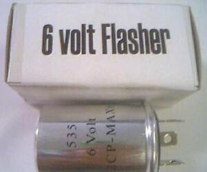 6 volt flasher Lincoln 1950 1951 1952 1953 1954 1955-Heavy Duty, 6v