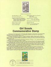 #8711 22c Girl Scout Stamp #2251 USPS Souvenir Page