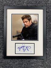 Benicio Del Toro Signed Cut Jsa Auto Custom Framed