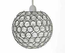 Chrome Acrylic Crystal Effect JEWEL Ball Globe Ceiling Light Pendant Shade 25cm