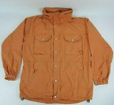 Vtg Polo Sport Ralph Lauren Sz Large Orange Hooded Lightweight Jacket USA Made
